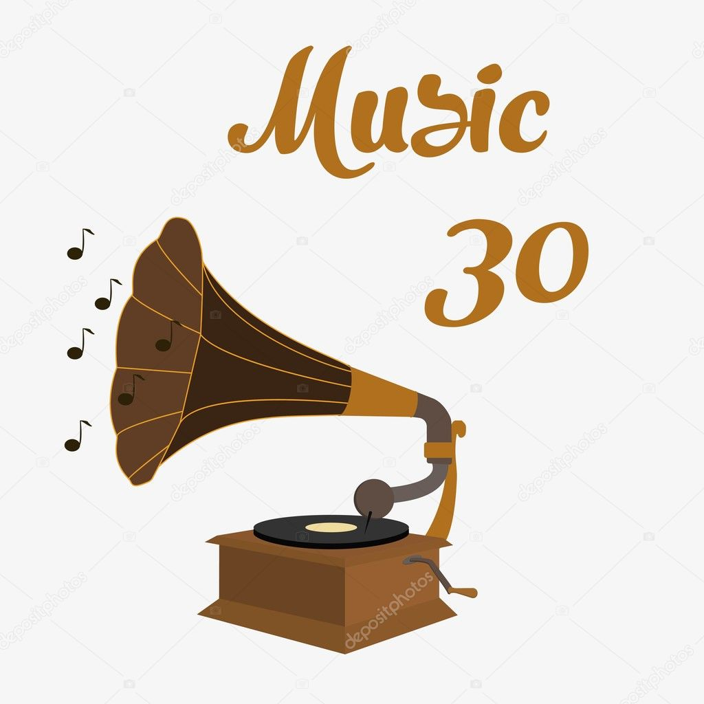 old gramophone vector stock vector c hlivnyk a gmail com 126703678 https depositphotos com 126703678 stock illustration old gramophone vector html