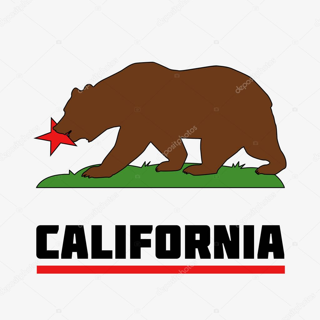 state of california flag stock vector hlivnyk a gmail com 130378150 rh depositphotos com california bear flag vector art california state flag vector free