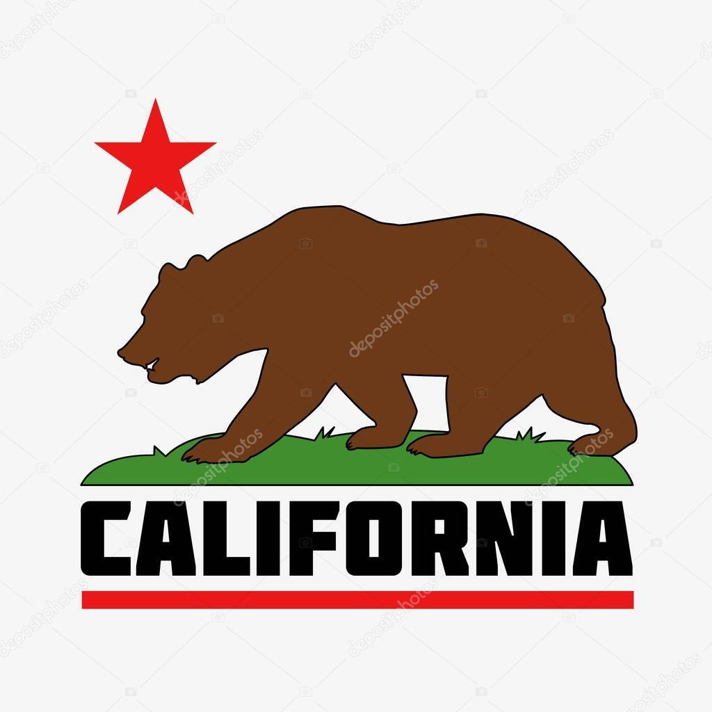 state of california flag stock vector hlivnyk a gmail com 130378156 rh depositphotos com california bear flag vector art california state flag vector eps