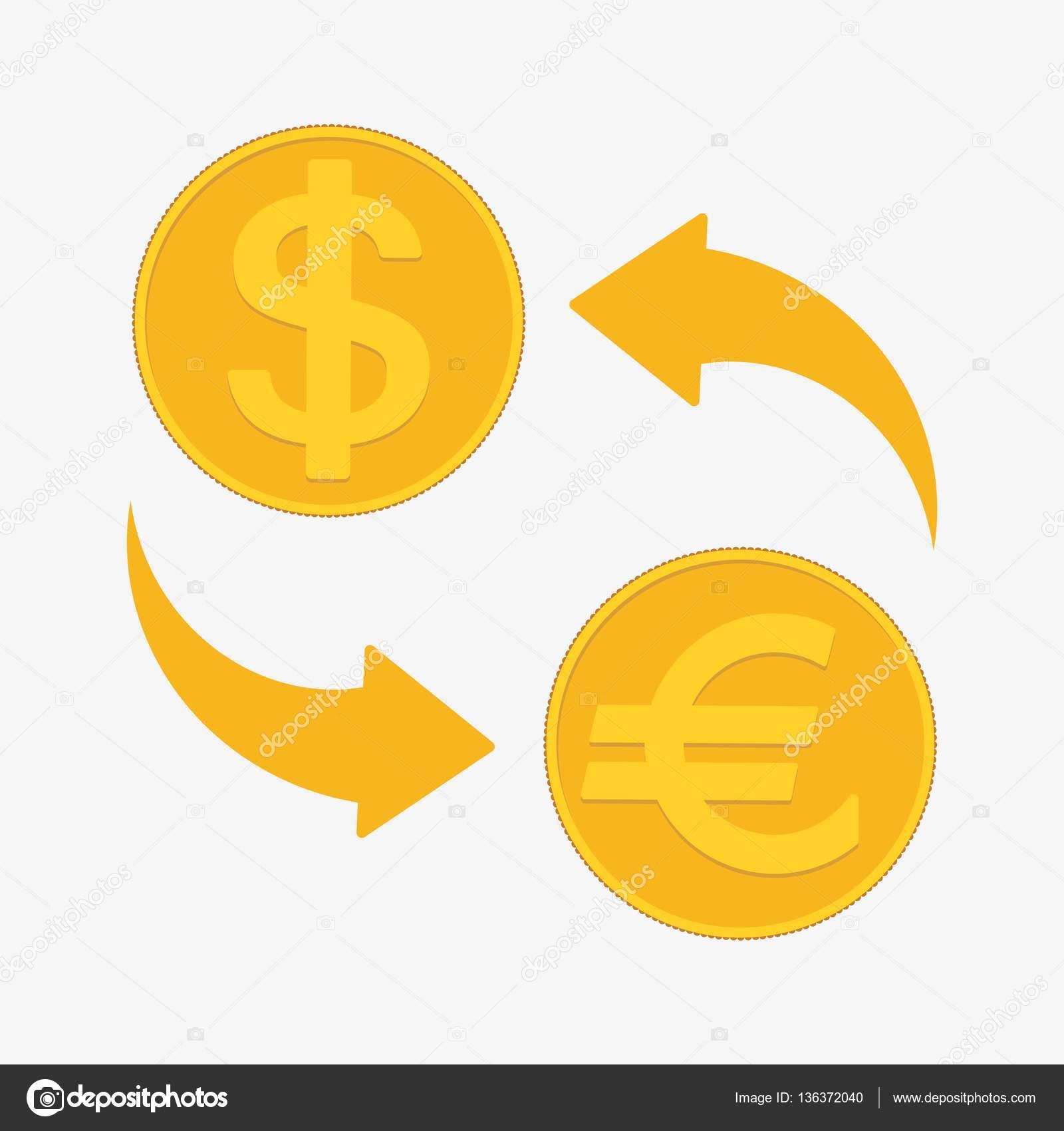 Bureau De Change Euro Et Dollar Illustration Vectorielle Image
