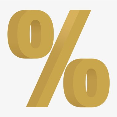 3D figure percent sign