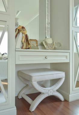 Classic white color dressing table