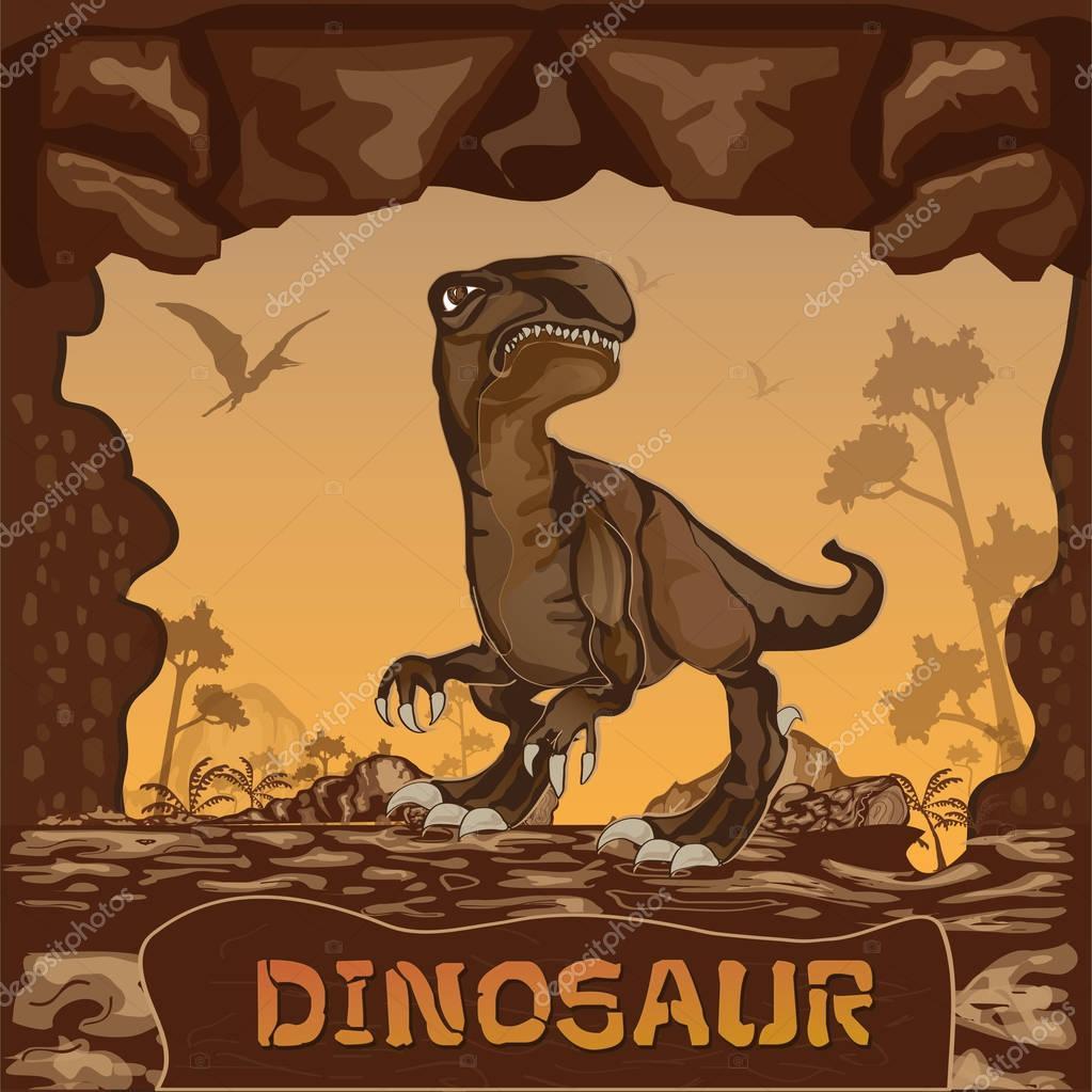 Dinosaur illustration Concept