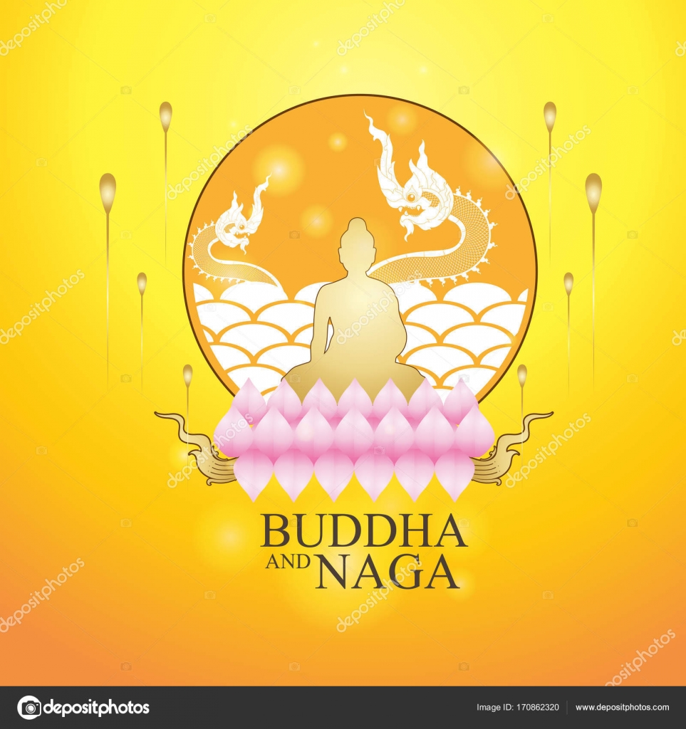 Buddha and naga thai style stock vector space vector 170862320 buddha and naga thai style vector concept vector by space vector biocorpaavc Images
