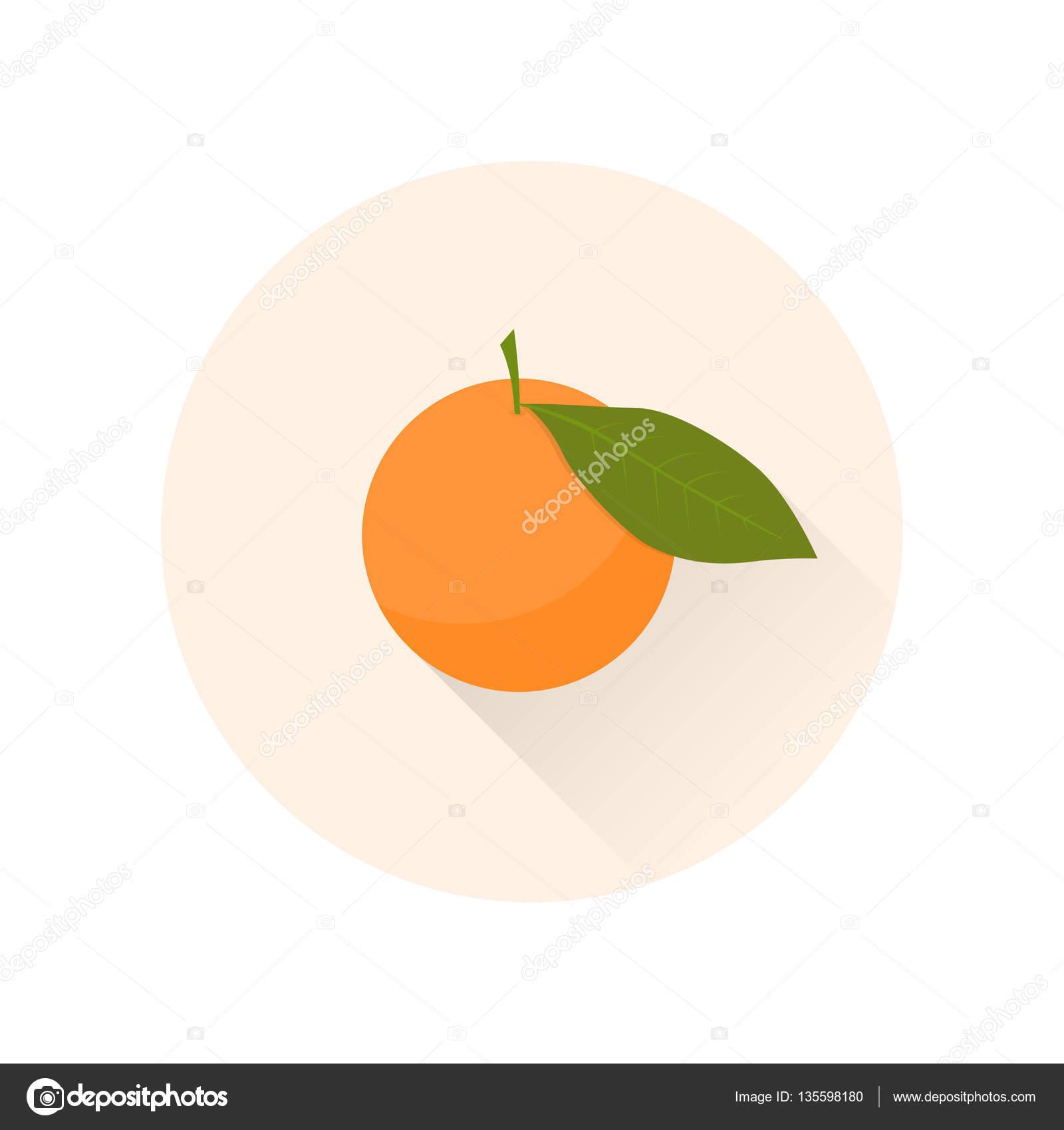 Mandarin Flat Icon Chinese Symbol Of Abundance And Happiness