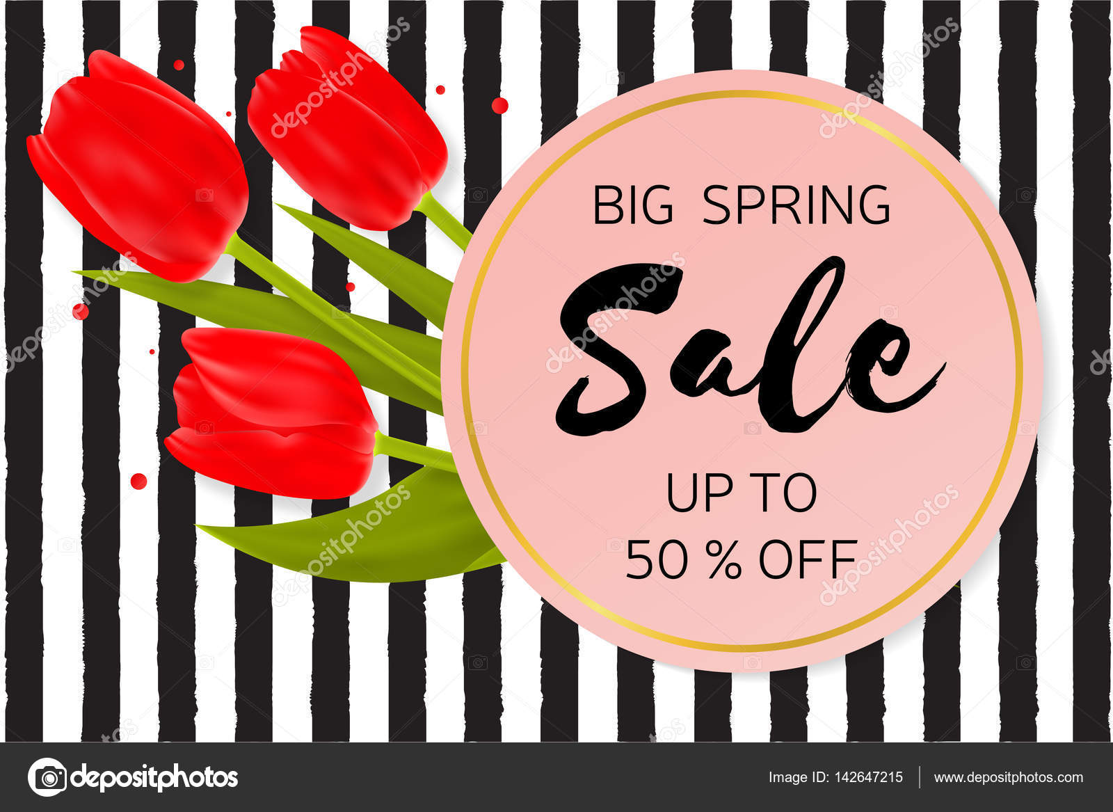 Big spring sale background with beautiful flowers stock vector big spring sale background with beautiful flowers stock vector mightylinksfo