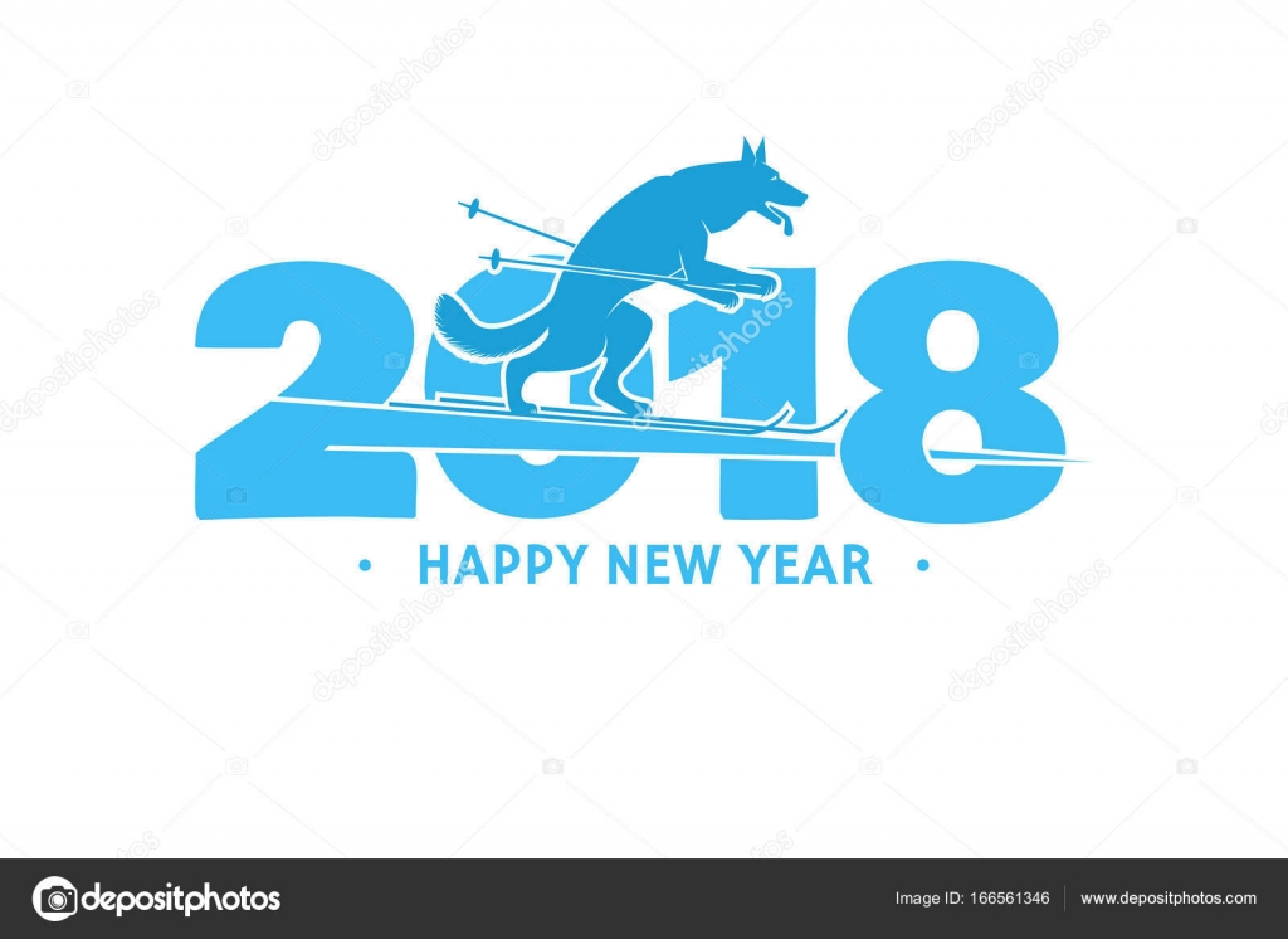 2018 Happy New Year greeting card — Stock Vector © serdiuk.igor ...