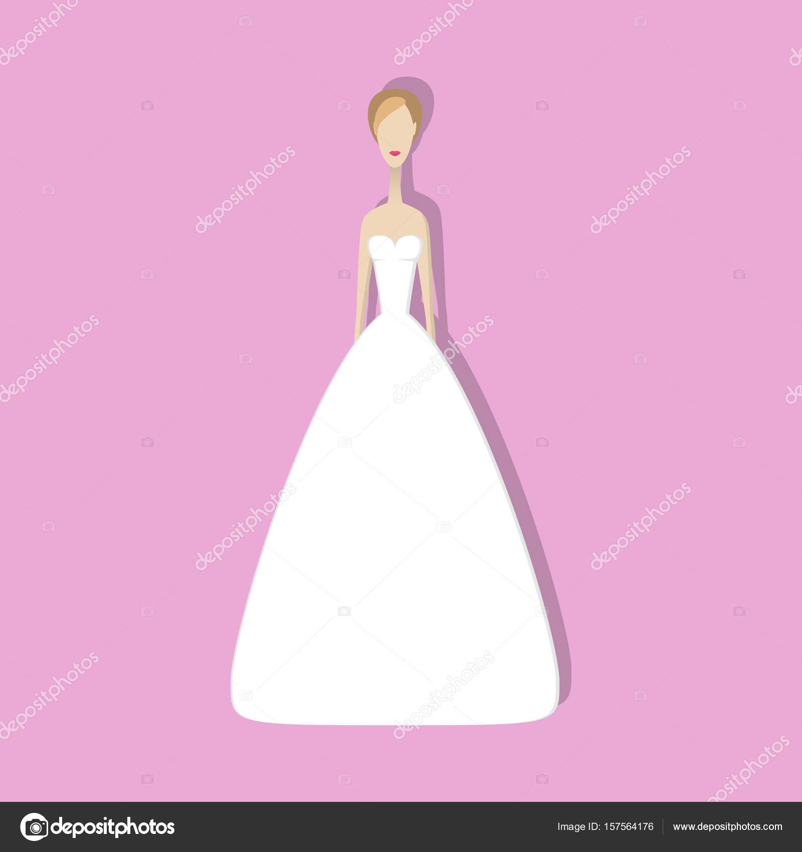 vestido de novia — Vector de stock © unununij #157564176