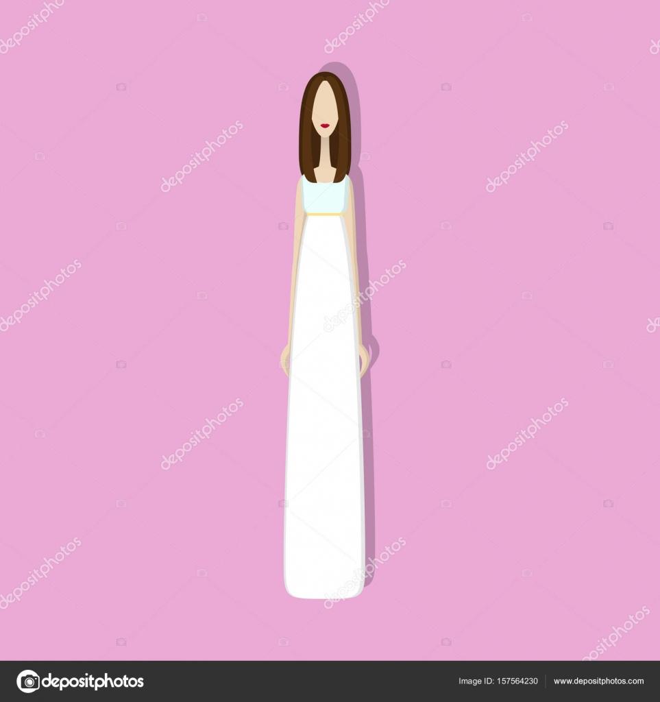 vestido de novia — Vector de stock © unununij #157564230