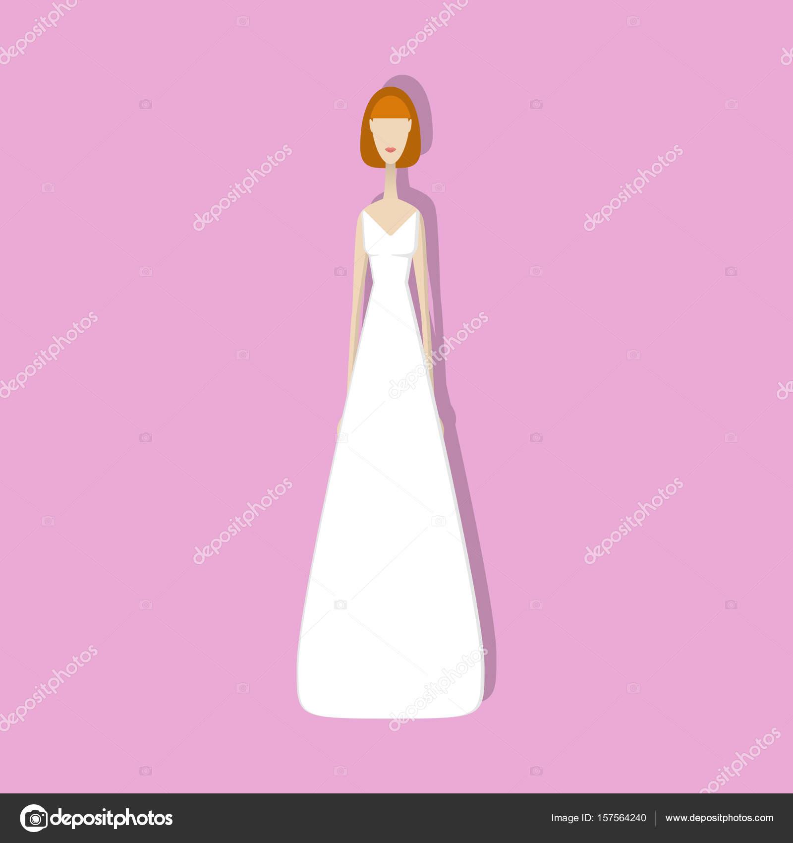 vestido de novia — Vector de stock © unununij #157564240