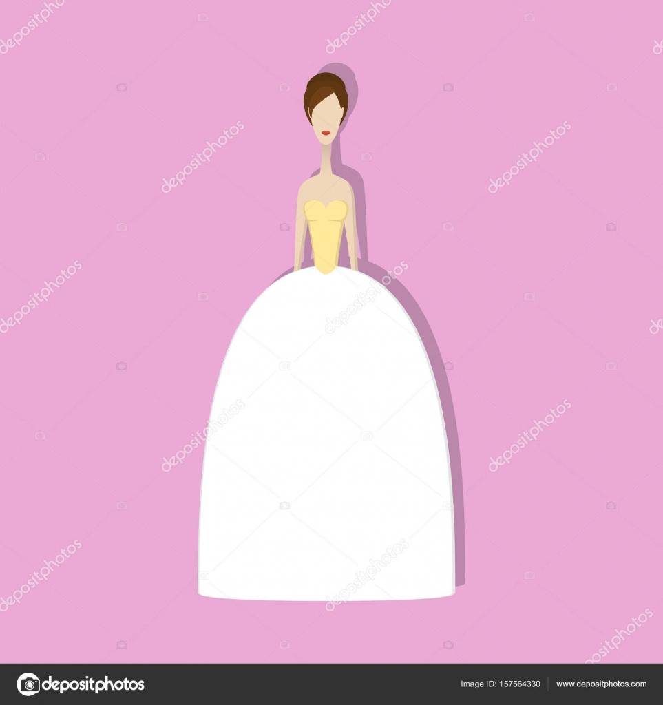vestido de novia — Archivo Imágenes Vectoriales © unununij #157564330