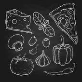 chalk food drawing