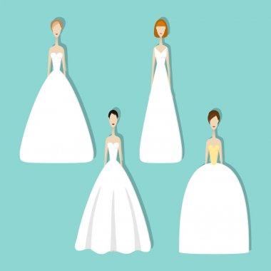 Set of brides