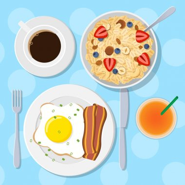 Traditional breakfast with cereal