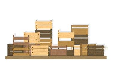 wooden crates set