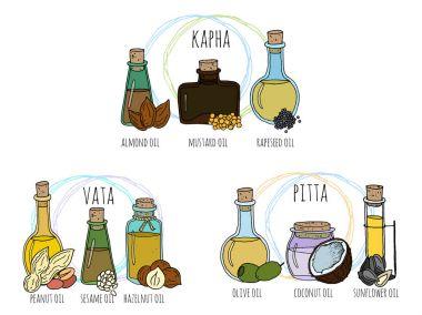 set of ayurvedic oils