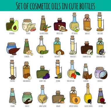 set of cosmetic oils