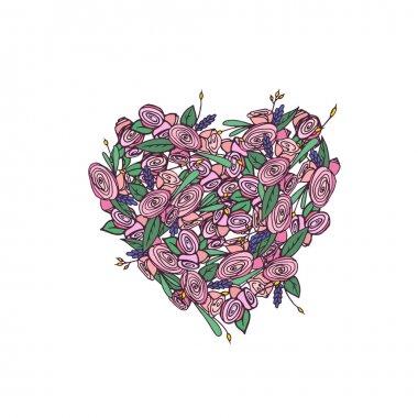 hand drawn flower wreath