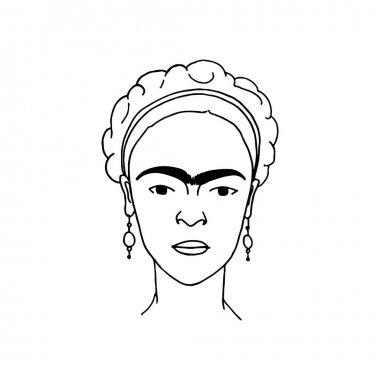 Frida Kahlo hand drawn
