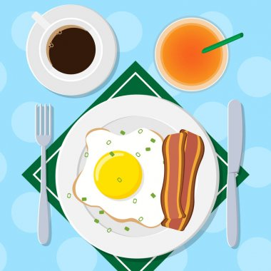 traditional breakfast flat styled