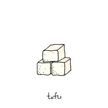 hand drawn tofu icon