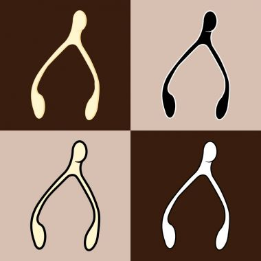 flat styled wishbone