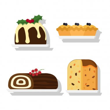 flat styled traditional desserts