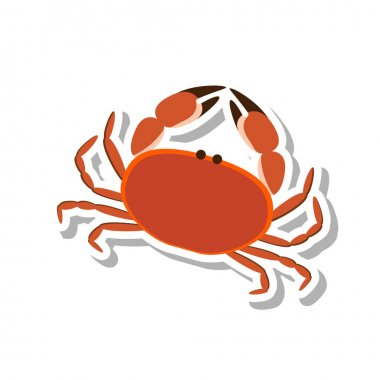 flat styled crab icon