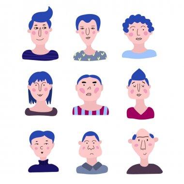 Cartoon face avatar