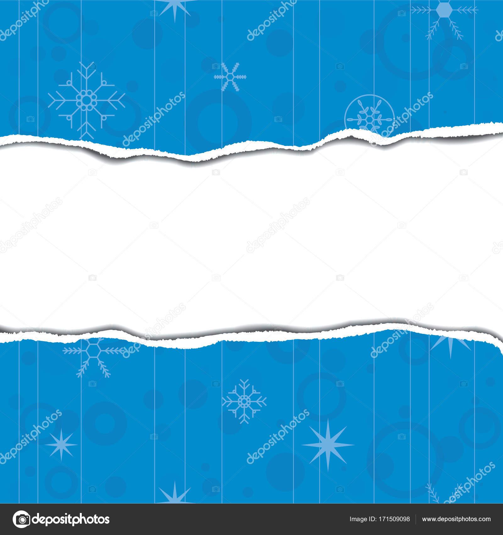 Plantilla de tarjeta de felicitación con bordes de papel rasgado ...