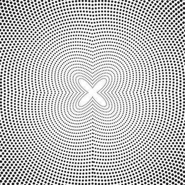 Abstract background with dotted twisted lines.
