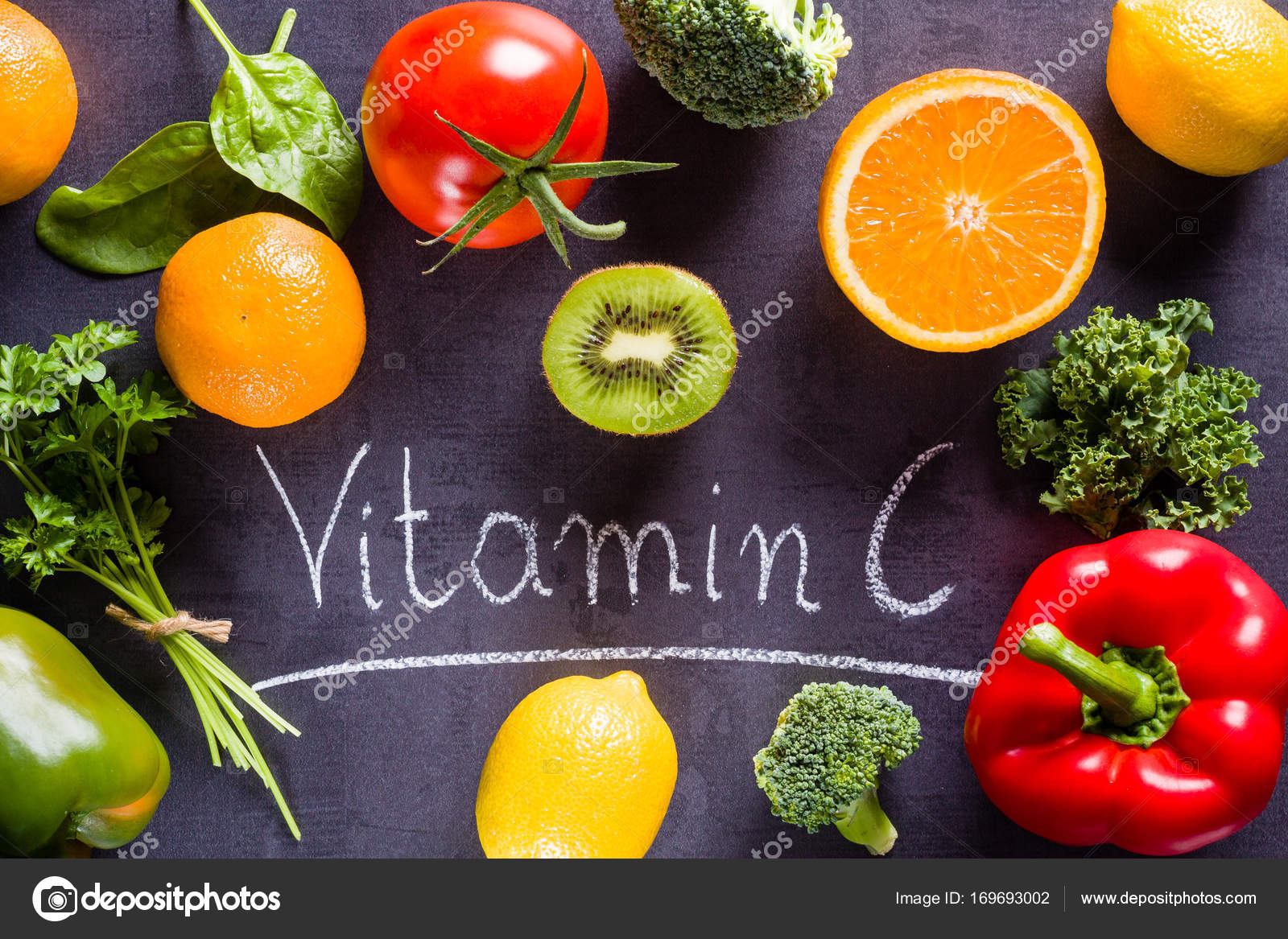 lebensmittel reich an vitamin c stockfoto 169693002. Black Bedroom Furniture Sets. Home Design Ideas