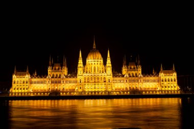 Night view of Hungarian Parliament