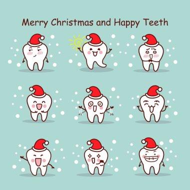 merry christmas and happy teeth