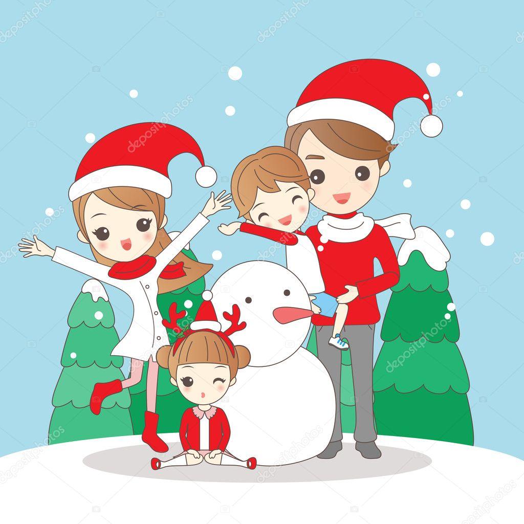 Dibujos Navidad Animados Familia De Dibujos Animados De