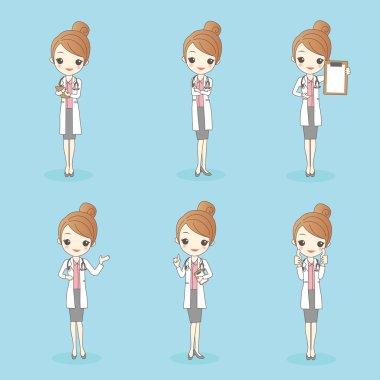cartoon beauty woman doctor