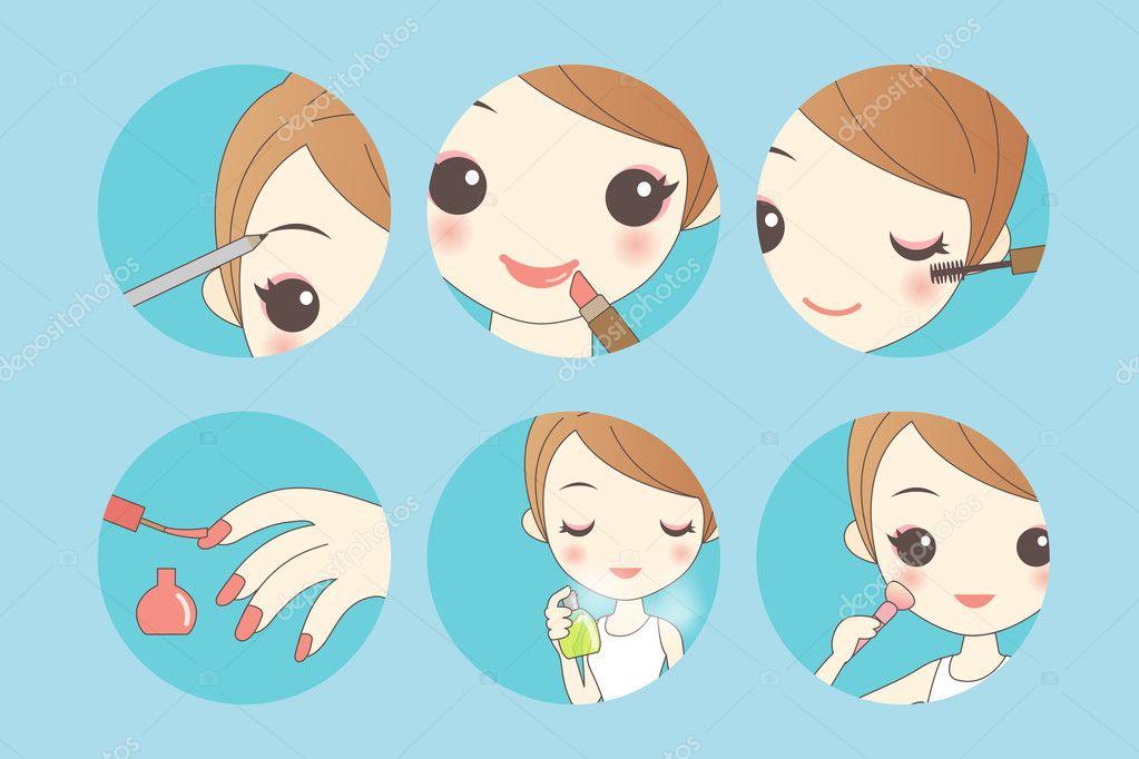 Imagenes De Maquillaje Para Descargar: Dibujos Animados Mujer Maquillaje