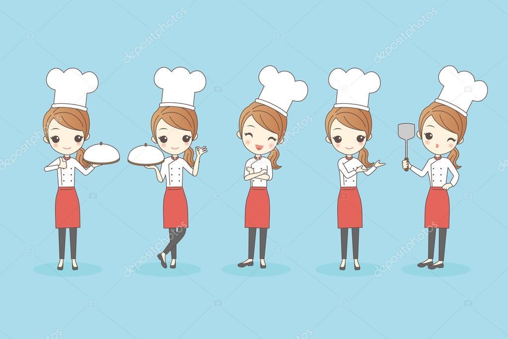 Chef De Dibujos Animados Mujer