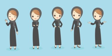 arab woman do different gesture