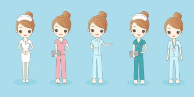 cartoon beautiful nurse