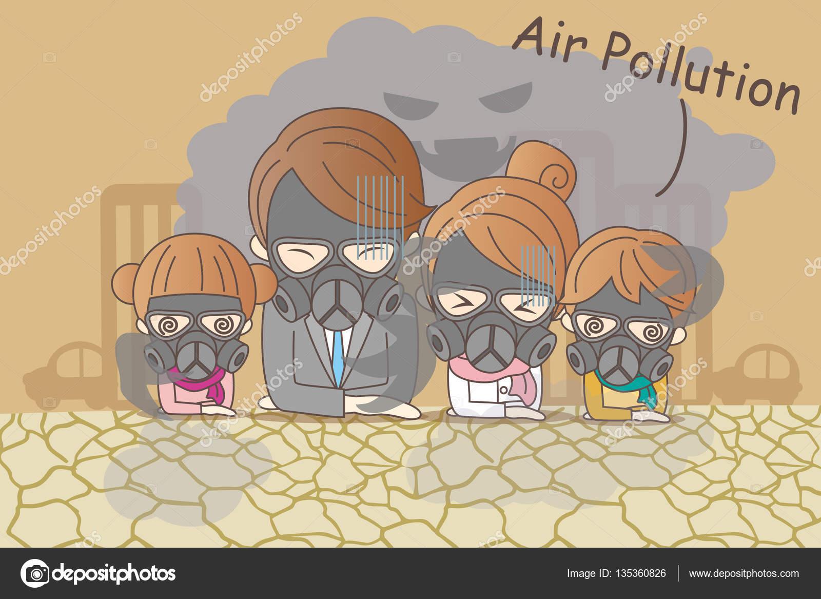 familia de dibujos animados con la contaminaci u00f3n del aire stop air pollution clipart stop air pollution clipart