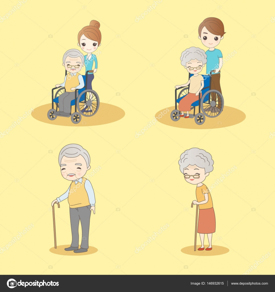 Image of: Gif Cute Cartoon Old People With Yellow Background Vector By Etoileark Depositphotos Cute Cartoon Old People Stock Vector Etoileark 146932615