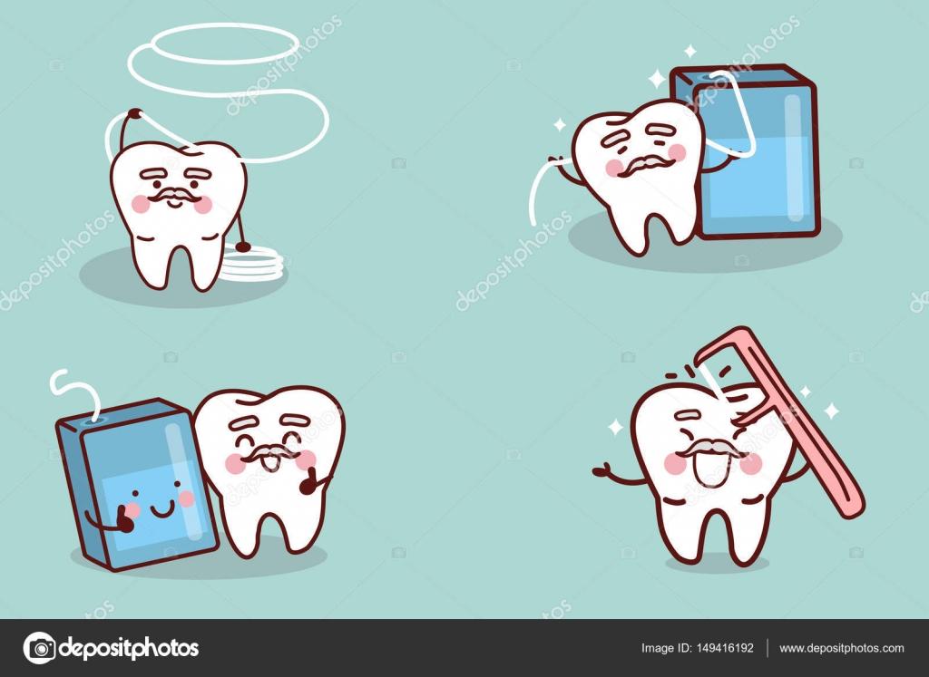 Diente superior con hilo dental archivo im genes vectoriales etoileark 149416192 Imagenes con animacion
