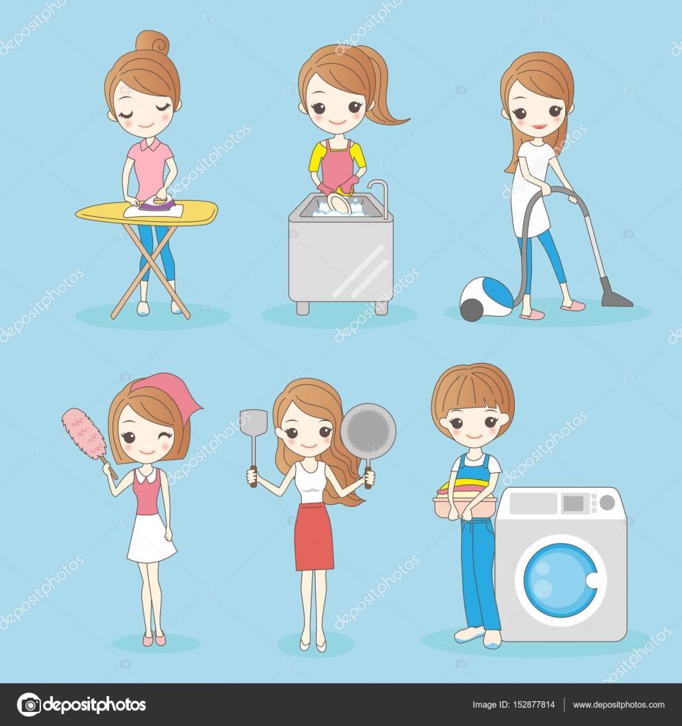 Hacer limpieza de ama de casa archivo im genes - Imagenes de limpieza de casas ...
