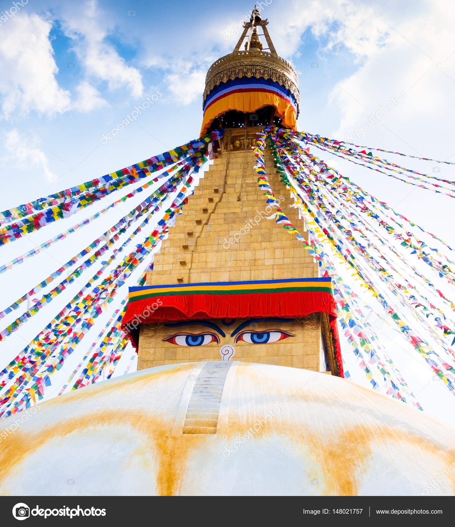 Boudhanath Stupa In Kathmandu-Tal, Nepal