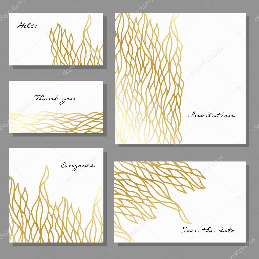 Satz von künstlerischen Universalkarten Vorlagen Business Design in ...