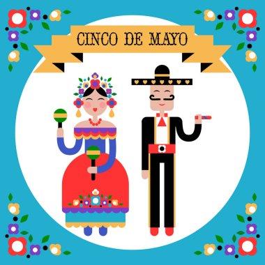 Cinco de Mayo Mexican holiday vector illustration