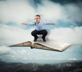 Fliegen mit Buch