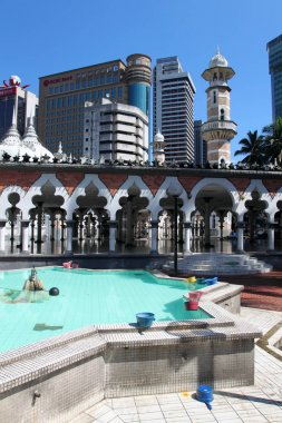 Historic mosque, Masjid Jamek at Kuala Lumpur, Malaysia
