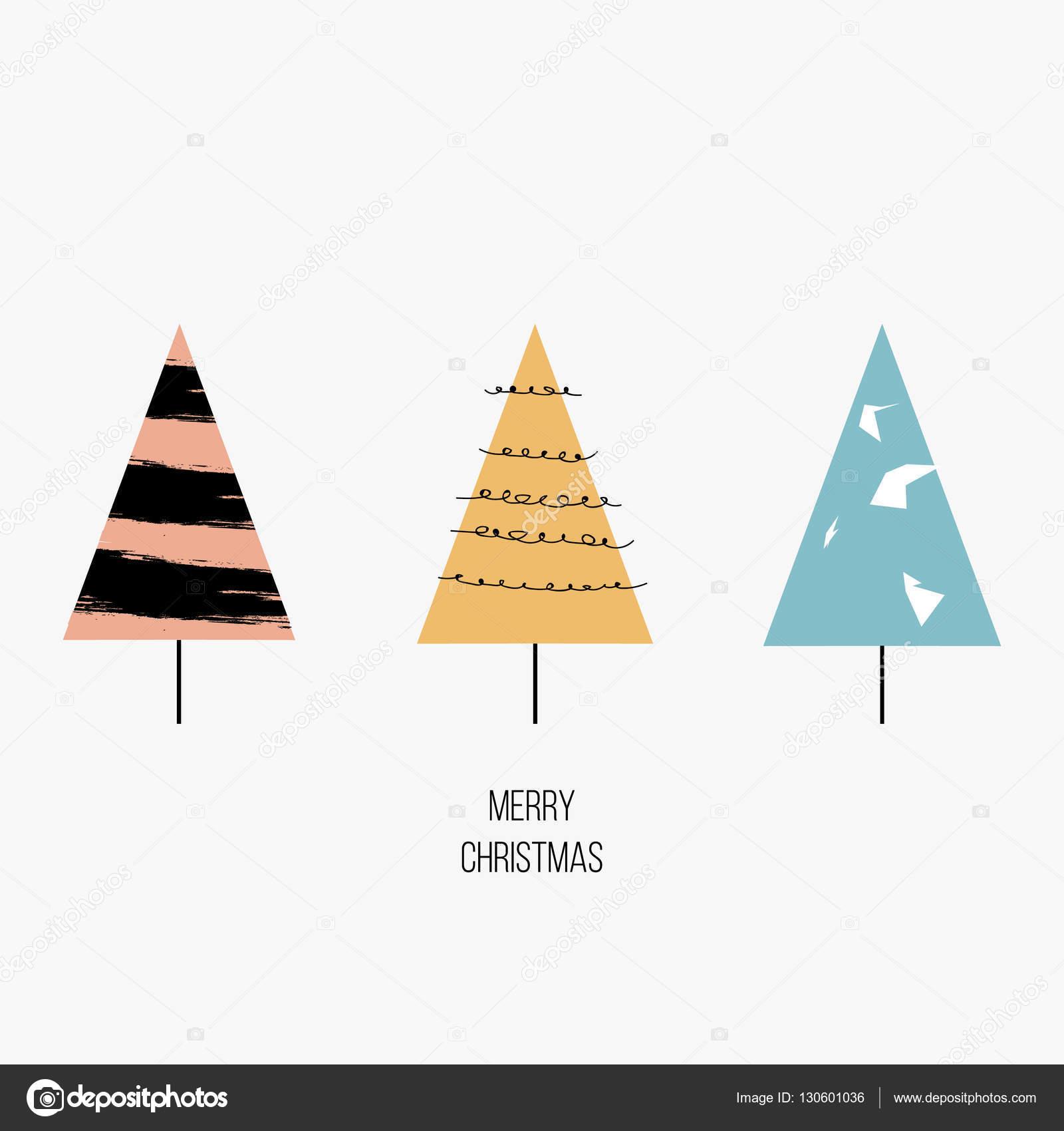 Moderne Weihnachtsgrüße Für Karten.Frohe Weihnachten Grußkarte Moderne Handgezeichnete Stilisierte
